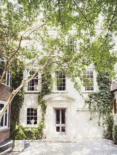 Interior courtyard - white with greyer windows/door