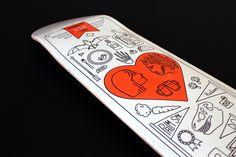 Anniversary skateboard illustration
