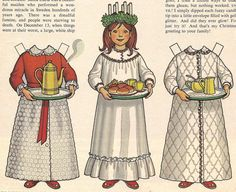 "Vintage Betsy McCall 'Santa Lucia"" Paper Doll I had this one Swedish Christmas, Scandinavian Christmas, Vintage Christmas, Christmas Crafts, Christmas History, Xmas, Christmas Tables, Modern Christmas, Mardi Gras"