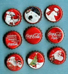 2010 Christmas Coca-Cola bottle caps Mexico
