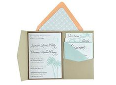 Pocket cards are a beautiful choice for a unique invitation. We supply you with everything you need for your invites to weddings, events and other occasions!