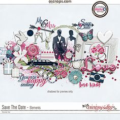 Digital scrapbooking Patters Paper Pack Save The Date by ninigoesdigi. Romantic and cute elements pack coordinating with the March Mini O Collection at OSCRAPS. Perfect for your wedding, engagement or party layouts. You can feel and spread the love! Party Layout, Save The Date, Digital Scrapbooking, Dating, Romantic, Paper, Wedding Engagement, Creative, Layouts