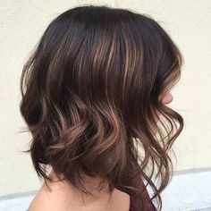 Chocolate Brown Lob Haircut with Layers