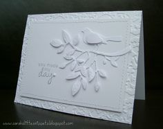 Sarah's Little Snippets: White on white - Less is More challenge