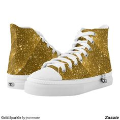 Gold Sparkle Printed Shoes