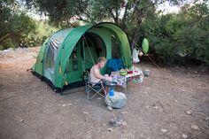 Ein Zelt zum Aufblasen