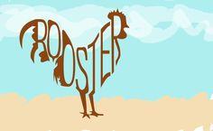 Rooster typography