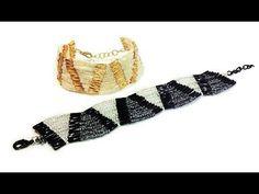 """Tutorial: beaded bracelet """"Wave"""" / Браслет """"Волна"""" из бисера и стекляруса"""