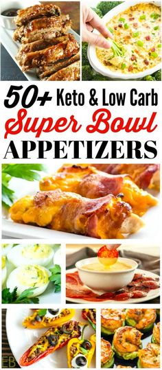 Over 50 of the YUMMIEST!! Keto Appetizers for the Super Bowl, any game day (or even any special gathering)! Finger foods, dips, bacon, cheesy things, shrimp, Mexican ~ comfort foods everyone will love. | Eat Beautiful | game day appetizers | super bowl appetizers | keto appetizers | low carb appetizers | #ketoappetizers #lowcarbappetizers #gameday #superbowl