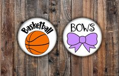 Basketball and Pink Bow basketball theme gender reveal pins Basketball Gender Reveal, Reveal Parties, Purple, Pink, Party Favors, Birthday Parties, Bows, Nara, Baby Showers