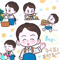 Sehun, Exo Anime, Pen Pal Letters, Exo Fan Art, Korean Art, Cute Chibi, Kpop Fanart, All Art, Hello Kitty
