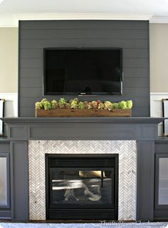 Eye-Opening Cool Tips: Fireplace Screen Babyproof rustic fireplace design.Shiplap Fireplace With Windows tv over fireplace television.Tv Over Fireplace Television. Log Burner Fireplace, Fireplace Garden, Shiplap Fireplace, Black Fireplace, Fireplace Mirror, Fireplace Remodel, Fireplace Mantle, Fireplace Surrounds, Fireplace Ideas