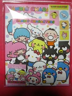 sanrio charecters letter  set  with sticker rare item from Japan free shipping