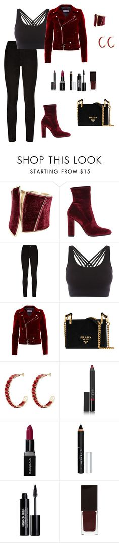 """Untitled #435"" by ladyasdis ❤ liked on Polyvore featuring GUESS by Marciano, Steve Madden, Paige Denim, Pepper & Mayne, Prada, Rosantica, NARS Cosmetics, Smashbox, Givenchy and Edward Bess"