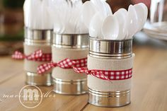 Great Idea - could use the ribbon with clay pots