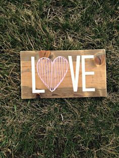 Love Sign Nursery Sign Wood Love Sign by WoodenThatBeSomethin