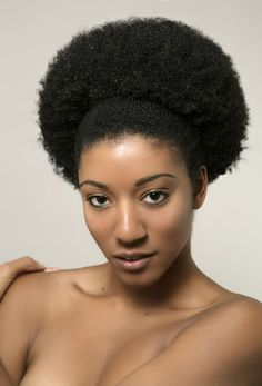 Afro pushed Back | Black Women Natural Hairstyles