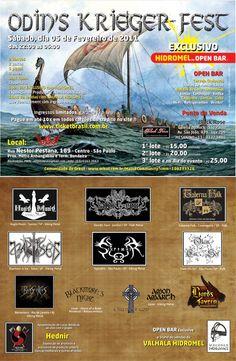 Nossa primeira apresentação, no Odin's Krieger Fest I, dia 05/02/2011 em São Paulo/SP.