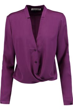Shop on-sale Halston Heritage Crepe de chine blouse. Browse other discount designer Tops & more on The Most Fashionable Fashion Outlet, THE OUTNET.COM