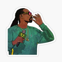 Sticker: Snoop Dog | Redbubble Anime Stickers, Cool Stickers, Snoop Dogg, 2pac, Kendrick Lamar, Bob Marley, Eminem, Rapper, Hip Hop
