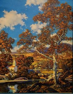 Early Autumn by Maxfield Parrish, 1939. Taken from a small calendar
