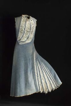 Denim dress for Comme des Garcons by Junya Watanabe.