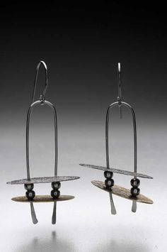 Barbara Smith McLaughlin: Wibbley Wobbley - Sterling Silver, brass, copper