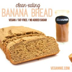 Clean Eating Banana Bread! #vegan #wholewheat #fatfree #healthydessert…