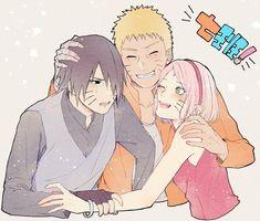 Sasuke and Sakura Kakashi, Naruto Cute, Shikamaru, Naruto And Sasuke, Naruto Shippuden Anime, Anime Naruto, Anime Manga, Hinata, Sasuke Uchiha Sakura Haruno