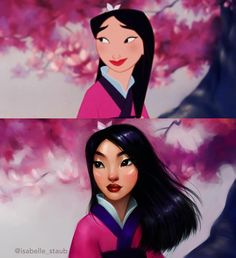 my favorite Disney princess. Mulan 🌸 (edit: yes I'm aware she's not technically a princ - isabelle_staub Disney Pixar, Disney Fan Art, Disney E Dreamworks, Film Disney, Disney Animation, Disney Magic, Disney Movies, Female Characters, Cartoon Characters