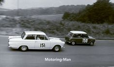 LES LESTON FORD CORTINA GT FITZPATRICK BROADSPEED MINI S 1963 LARGE PHOTOGRAPH Ford Capri, Mini S, Cologne, Car, Photograph, Racing, Image, Photography, Running