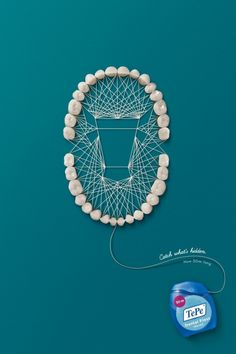 TBWA\Istanbul, Turkey - TePe Dental Floss 'Catch what's hidden. Now 30m long.'