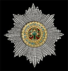 Order of St. Patrick, a mid-Victorian breast star by West & Son, Dublin, 95 x Irish Free State, Military Ribbons, Crosses Decor, Saint Patrick, Chivalry, Crowns, Brooches, Don't Forget, United Kingdom