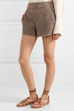 Chloé - Wool-blend Tweed Shorts - Brown - FR38