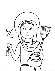 Week 15 4 20 16 saint odilia coloring sheet ccm for St rose of lima coloring page