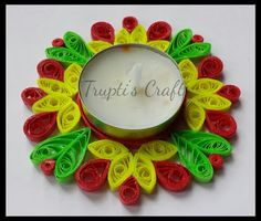 Trupti's Craft: Paper Quilling Candle Holders