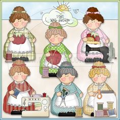 Housewife Holly Loves To Sew 1 - NE Cheryl Seslar Clip Art : Digi Web Studio, Clip Art, Printable Crafts & Digital Scrapbooking!
