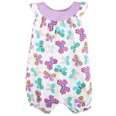 "Koala Baby Girls' Printed Flutter Sleeve Romper - Babies R Us - Babies ""R"" Us *NEWBORN*"
