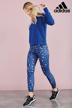 3c8d5f5ca199 Buy adidas Blue Essential All Over Print Tight from the Next UK online shop