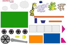 Аппликация для детей из бумаги шаблон паровоз