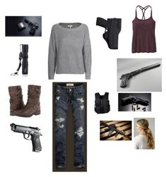 """""""Untitled #5168"""" by abigailloveschocolate ❤ liked on Polyvore featuring Holster, POLICE, Joie, Eric Michael, Hollister Co., Swat and Athleta"""