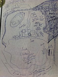 Hogwarts map made by J.K.Rowling.    Drawn by J.K.Rowling to Stuart Craig the production designer of the first movie..