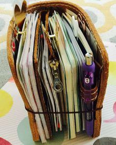 Art Journal Every Day: Thinking About a Traveler's Notebook - Art Journal Journal D'art, Creative Journal, Scrapbook Journal, Art Journals, Travelers Notebook, Bullet Journal Inspiration, Journal Notebook, Smash Book, Book Making