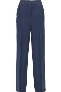 BY MALENE BIRGER Piloti satin-trimmed crepe wide-leg pants. #bymalenebirger #cloth #pants