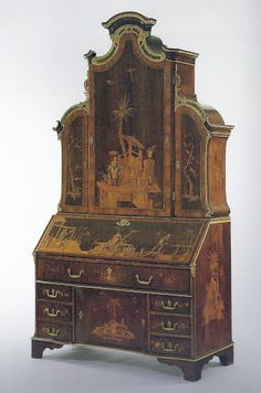 Secretary Desk - David Roentgen - c1775, German (Neuwied), Walnut and other…