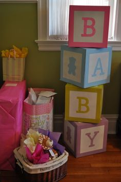 Baby Blocks I made for a friends Baby Shower.