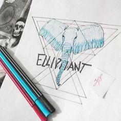 #projeto #Estampas... #elliphant #elefante #tshirt #tshirts #drawing #draw #desenho #ilustração