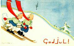 Holiday Cards, Christmas Cards, Christmas Postcards, Norway, Ski, Anna, Christian Christmas Cards, Christmas E Cards, Xmas Cards