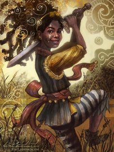 78 Tarot Carnival: Page of Swords by kirileonard.deviantart.com on @DeviantArt