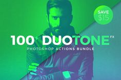 Duotone Photoshop Action Bundle by Micromove on @creativemarket